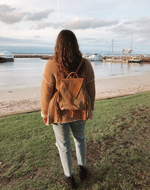 Phoenix Backpack - Natural Hide