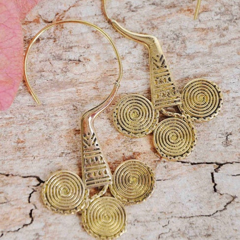 Brass Artisan Earrings