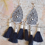 Sierra Tassel Earrings - Black