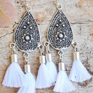 Sierra Tassel Earrings - Ivory