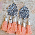 Shantay Tassel Earrings - Tangerine