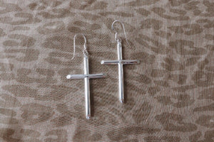 SS Cross Earrings