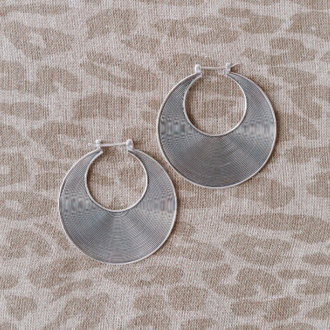 SS Spiral Earrings - Medium