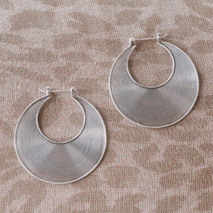 SS Spiral Earrings - Large