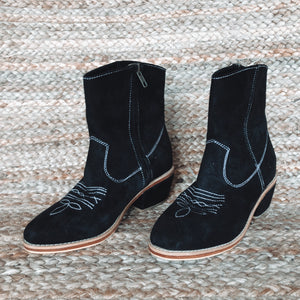 Mahli Suede Boot - Black