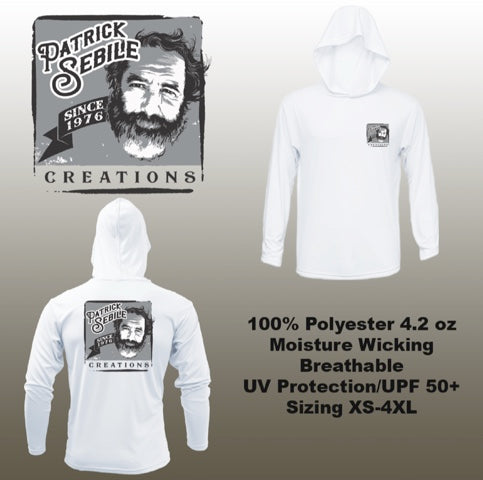 Patrick Sebile Creations Long Sleeve Hooded Performance Shirt