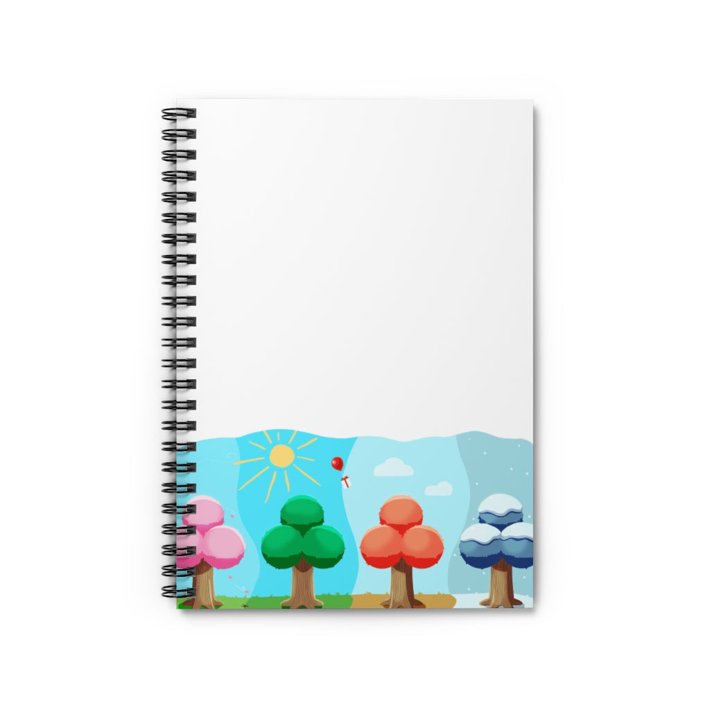 Animal Crossing Seasons Spiral Notebook - Ruled Line