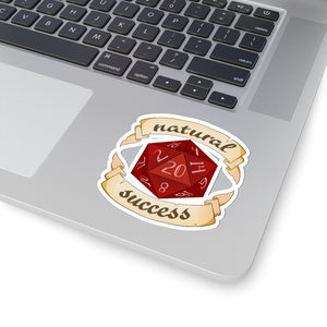 Natural Success - Dungeons and Dragons Vinyl Sticker