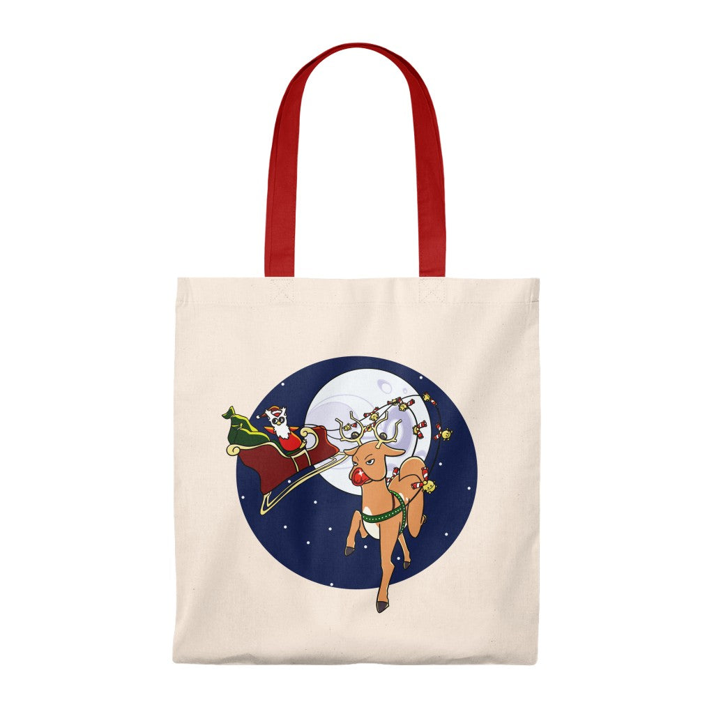 Rudolph the Red-Nosed Stantler - Christmas Pokemon Tote Bag