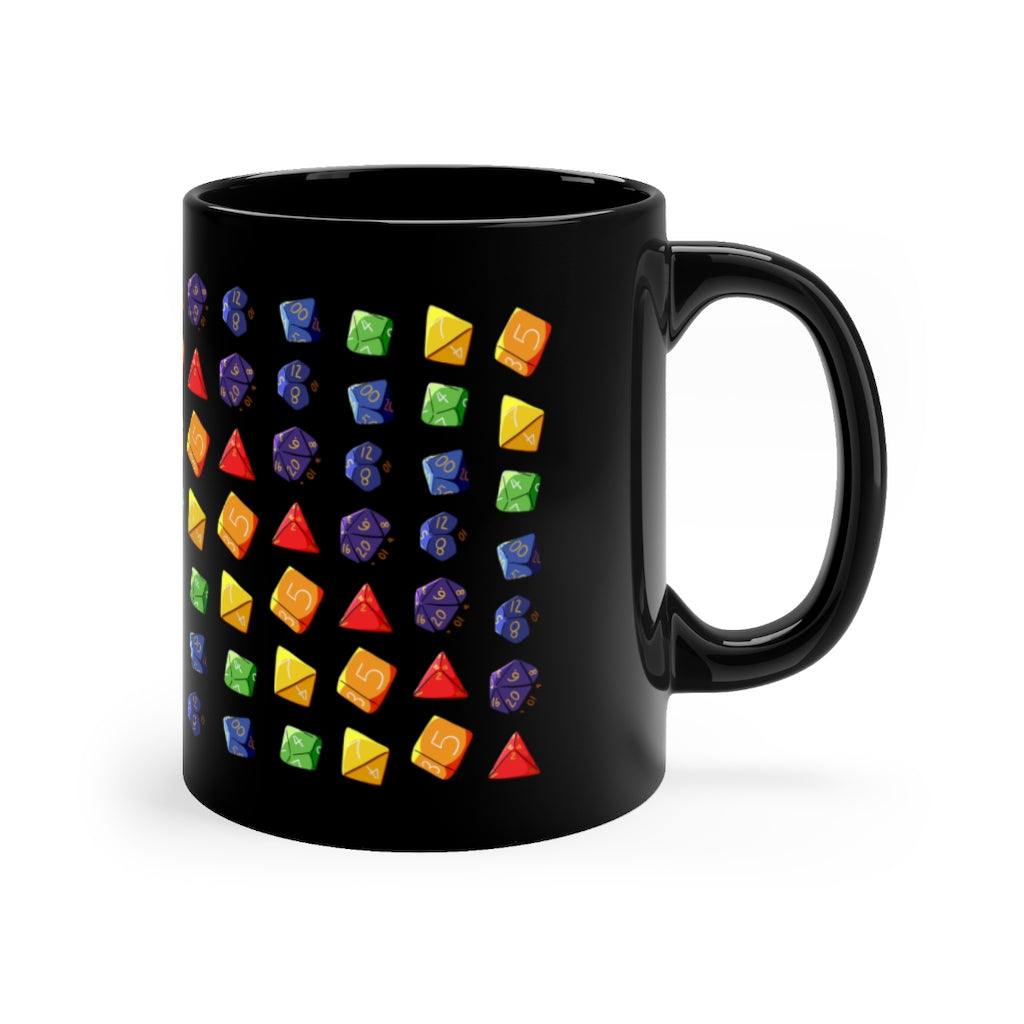 Rainbow Dice - Dungeons & Dragons 11oz Mug