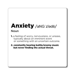 Anxiety Definition - Video Game Magnet