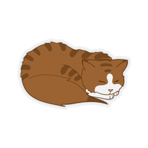Sleeping Kitten Vinyl Sticker