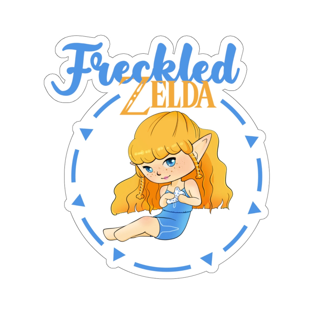 Circle Freckled Zelda Vinyl Sticker
