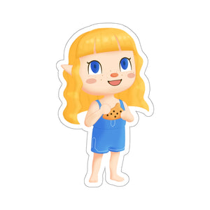 Animal Crossing Style Freckled Zelda Chibi Vinyl Sticker