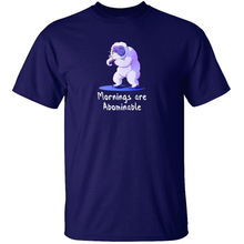 Load image into Gallery viewer, Mornings are Abominable - Yeti Cryptid T-Shirt
