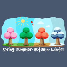 Load image into Gallery viewer, The Four Seasons - Animal Crossing T-Shirt