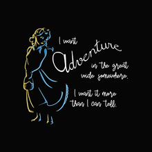 Load image into Gallery viewer, I Want Adventure - Beauty and the Beast T-Shirt