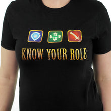 Load image into Gallery viewer, Know Your Role - Final Fantasy XIV T-Shirt