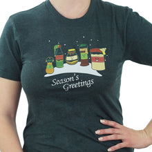 Load image into Gallery viewer, Season's Greetings - Christmas Pun T-Shirt