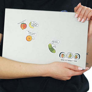 Grocery Store Sticker - Funny Food Sticker Set