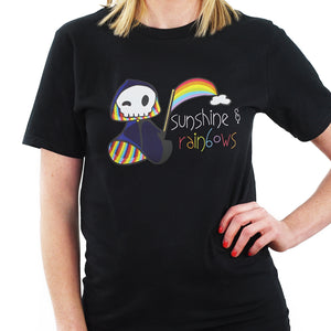 Rainbow Grim Reaper T Shirt from TeeRexTee.com