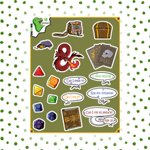 Load image into Gallery viewer, Dungeons & Dragons Sticker Set