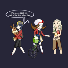 Load image into Gallery viewer, Egg Hatching - Pokemon & Game of Thrones T-Shirt