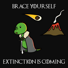 Load image into Gallery viewer, Extinction is Coming - Dinosaur & Game of Thrones T-Shirt