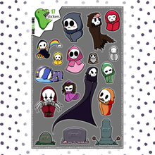 Load image into Gallery viewer, Grim Reaper Stickers - Halloween Sticker Set