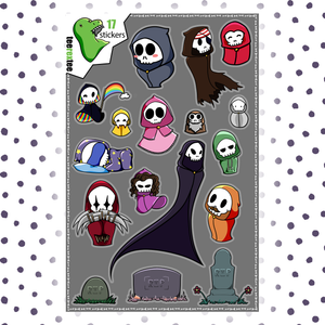 Grim Reaper Stickers - Halloween Sticker Set