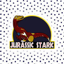 Load image into Gallery viewer, Jurassic Tony Stark - Jurassic Park & Iron Man Individual Sticker