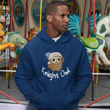 Load image into Gallery viewer, Knight Owl - Animal Pun Hoodie