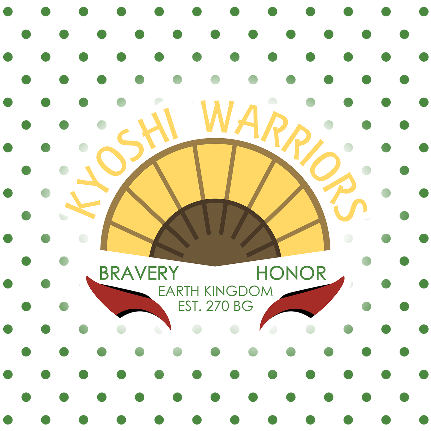 Kyoshi Warriors - Avatar: The Last Airbender Individual Sticker