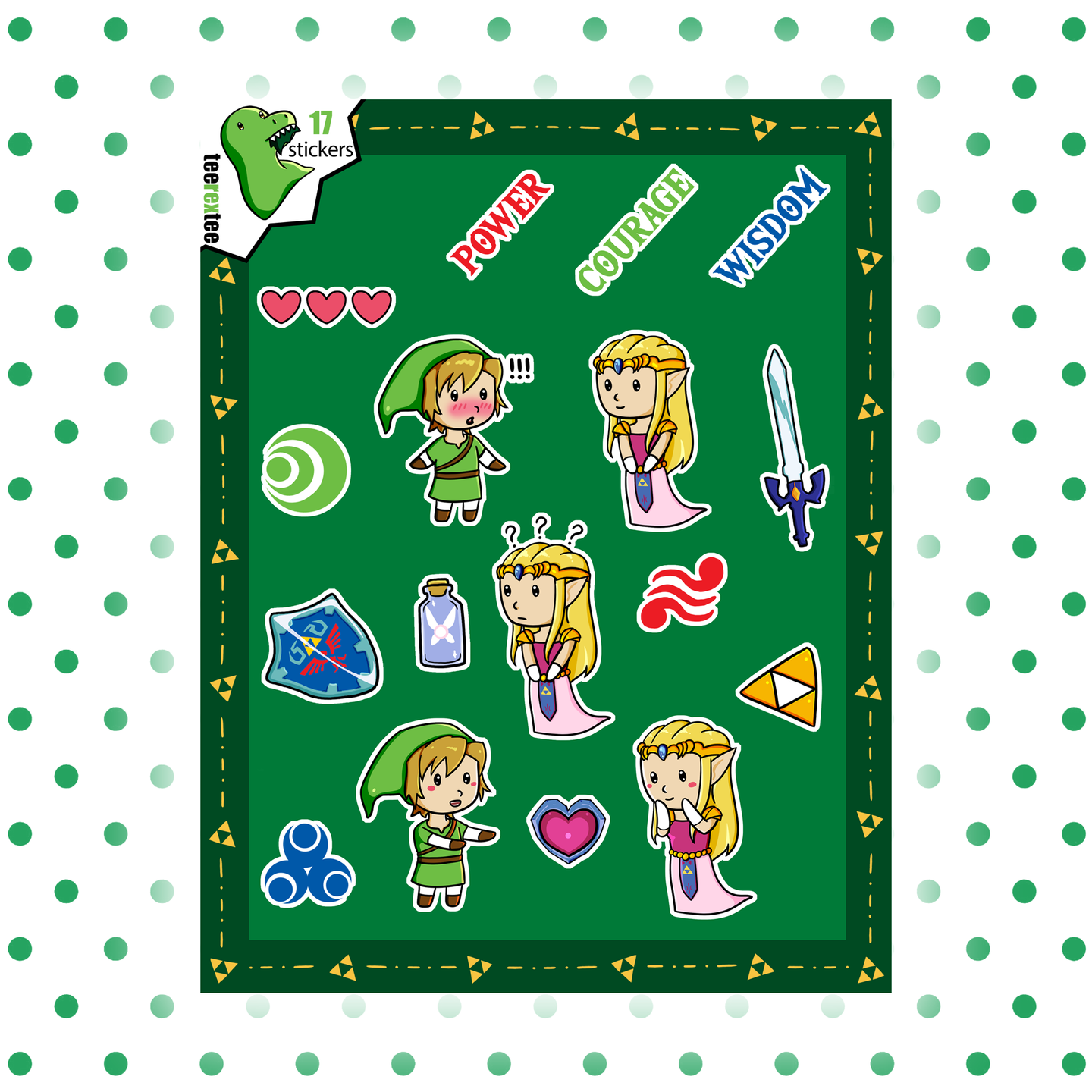 Link and Zelda Stickers - Legend of Zelda Sticker Set