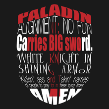 Load image into Gallery viewer, Paladin T Shirt from TeeRexTee