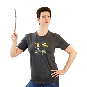 Hogwarts Starters - Harry Potter & Pokemon T-Shirt