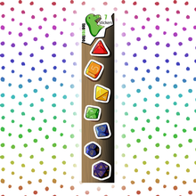 Load image into Gallery viewer, Rainbow Dice - Dungeons & Dragons Sticker Half Sheet