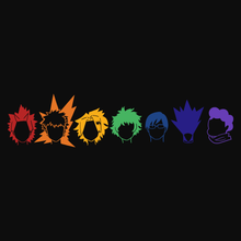 Load image into Gallery viewer, Rainbow Heroes - My Hero Academia T-Shirt