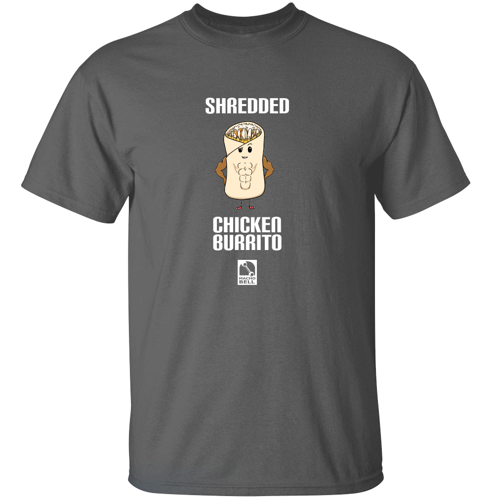Shredded Chicken Burrito - Food Pun T-Shirt
