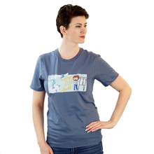 Load image into Gallery viewer, Happy Little Clouds - Bob Ross & Pokemon T-Shirt