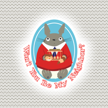 Load image into Gallery viewer, Mister Totoro's Neighborhood Sticker - Studio Ghibli & Mister Rogers' Individual Sticker