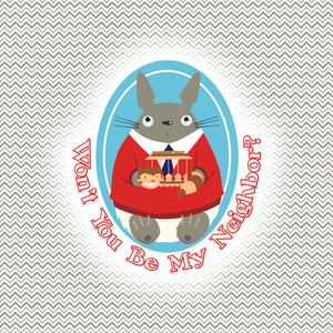 Mister Totoro's Neighborhood Sticker - Studio Ghibli & Mister Rogers' Individual Sticker