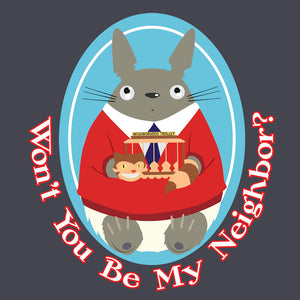 Mister Totoro's Neighborhood - Studio Ghiibli & Mister Rogers T-Shirt