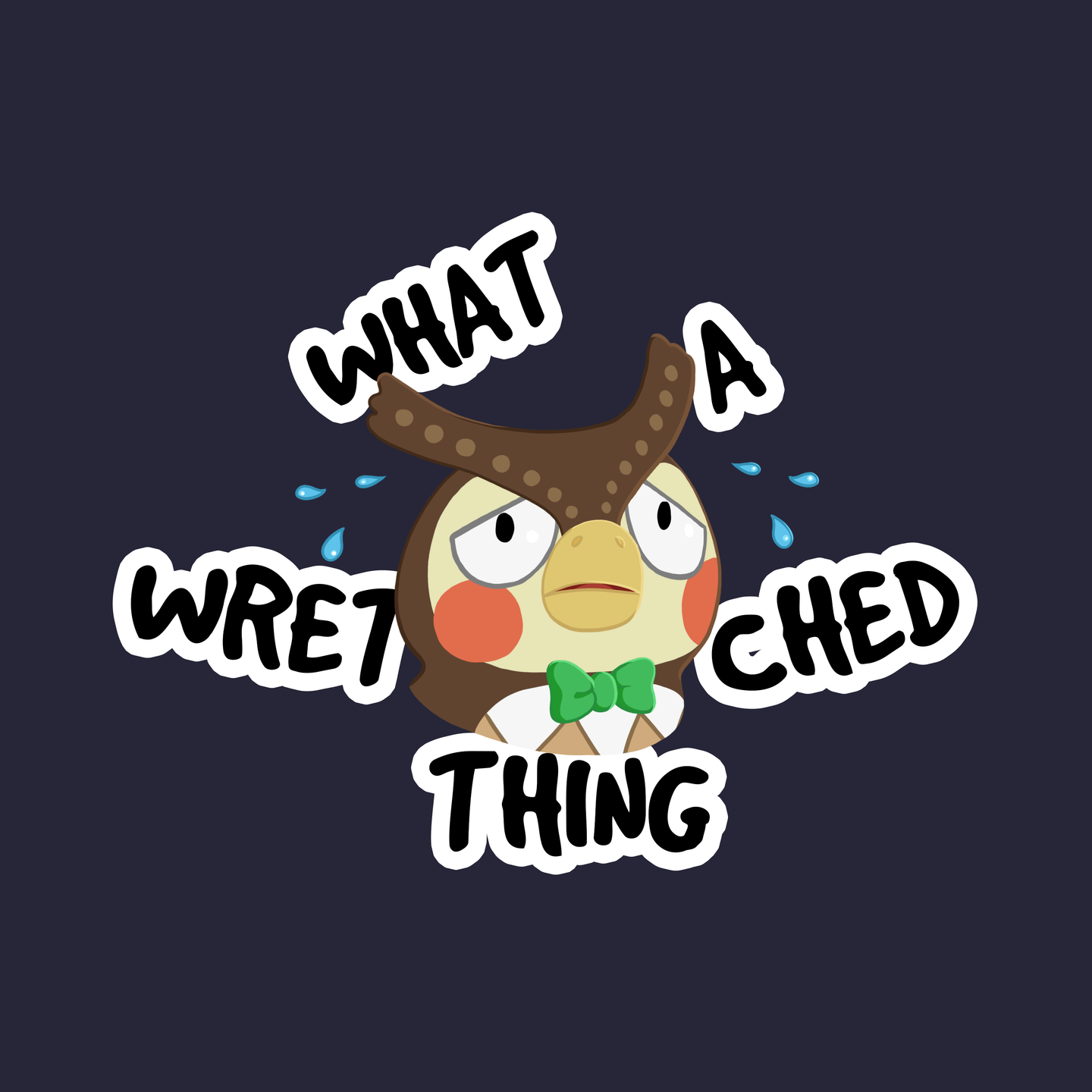 Wretched Thing - Blathers from Animal Crossing T-Shirt