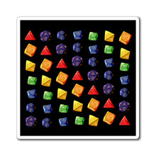 Load image into Gallery viewer, Rainbow Dice - Dungeons & Dragons Magnet