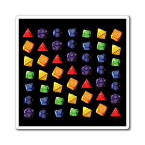 Rainbow Dice - Dungeons & Dragons Magnet