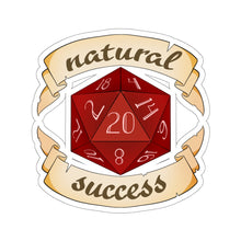 Load image into Gallery viewer, Natural Success - Dungeons and Dragons Vinyl Sticker