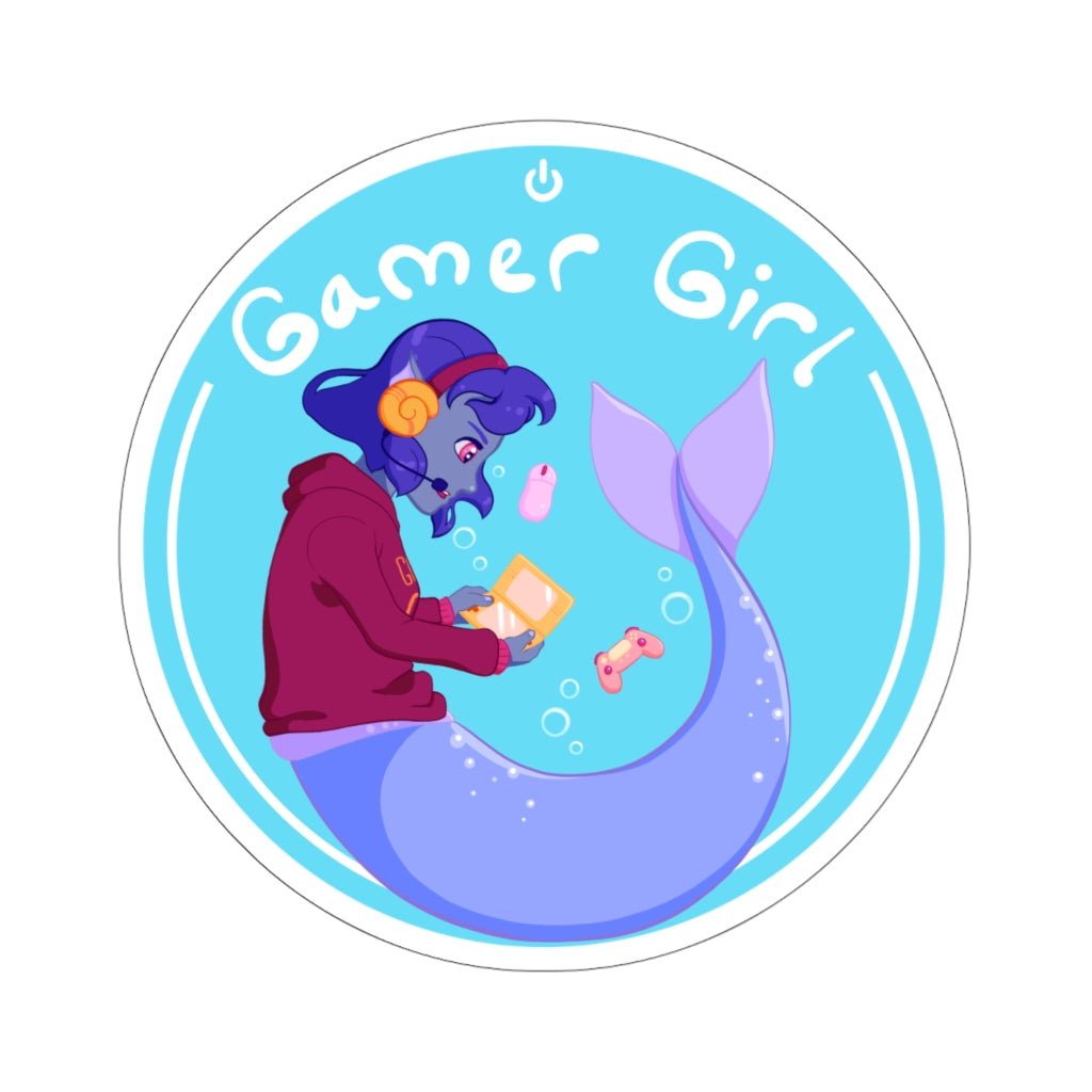 Ga-mer Girl - Video Game/Mermaid Vinyl Sticker