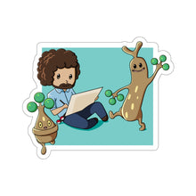 Load image into Gallery viewer, Bob Ross' Happy Little Trees - Pokemon & Bob Ross Vinyl Sticker