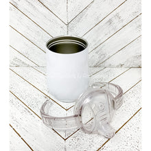 Load image into Gallery viewer, 9oz White Sippy Tumbler